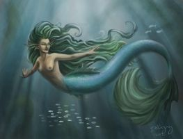 Maiden in the Waves by DuskDiamond
