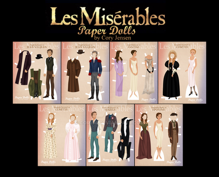 Les Miserables Paper Doll Collection by Cor104