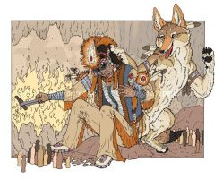 Coyote and the Creator by Freha