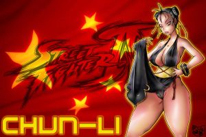 CHUN LI - SUPER STREET FIGHTER by Cajuhy