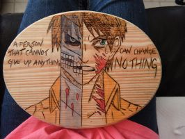Attack on Titan wood burning by BlueDaisy767