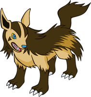 Shiny Mightyena Global Link Art by TrainerParshen