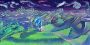 Sonic Reboot banner artwork by LunarMew