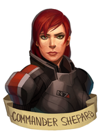 Shepard (commission) by kleineHerz