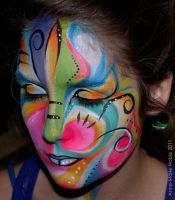 Face painting abstrait 2 by Anne-Marie-Noble-Art