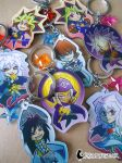 Yugioh Duel Monsters Keychains by DragonBeak