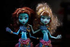 Monster high mermaids ooak custom dolls 2 by clefchan