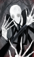 Slender Man by LittleDarkDragon
