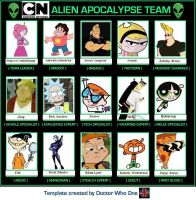 Alien Apocalypse Team meme - Cartoon Network editi by BurningResurrection