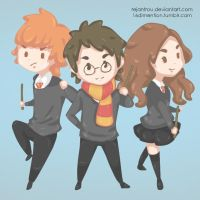 Ron Harry Hermione. by 0lkka