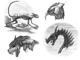 Monstrous Creatures by Drak-Joen