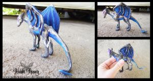 Silverwind Dragon Sculpture by Hidden-Treasury