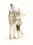 shikamaru and ino in the snow by yurilover88