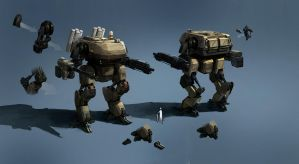 mech concept by JimHatama