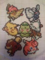 Pokemon Cross Stitch by Oolongo