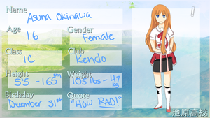 Ikehara-High Application: Asuna Okinawa by Flipflopperz