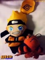 Naruto and his frog_plushie by Terrami