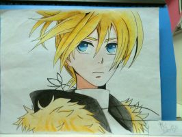 Kagamine Len - Looking for You in the Sky by violetstarlight