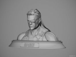Old Snake clay render 1 by keshon83