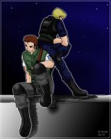 Chris and Wesker... by Anko-sensei