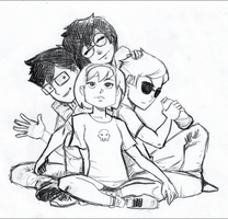 Homestuck kids by nescedral