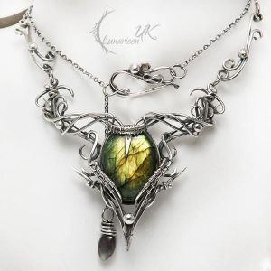 ARCARHTIAL - silver and labradorite by LUNARIEEN