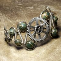 Steampunk Bracelet W by CatherinetteRings