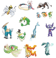 Pokemon Tumblr Requests by GlassesCat