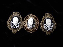 Octopus Cameo Brooches by KatarinaNavane