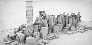 Mirrors Edge City in Sketchup by fonso-sm