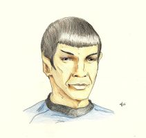 Spock's Smile by AloiInTheSky