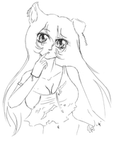 What is it? -Inu Cristal Speed sketch by miyukiZETA
