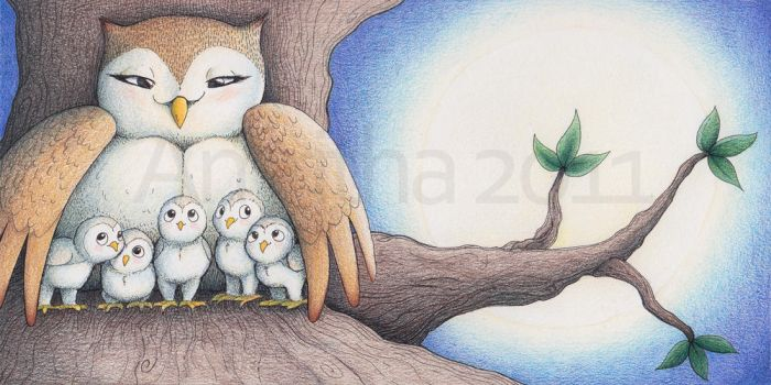 5 Little Owlets by Amritha