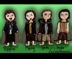 The Hobbits by TallyBaby13