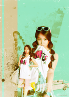 IU's summer :p by Jirushine5876