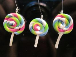 Candy Colored Lollipop Charms by Blazesnbreezes