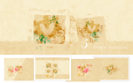 5 large textures - Old flowers by So-ghislaine
