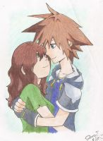 Emily and Sora by JeBoo09