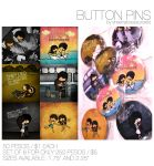 Button Pins for Sale by cippow25