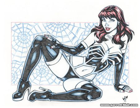 Mary Jane symbiote lingerie blueline pencils by gb2k