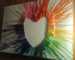 Exploding crayon heart!! by ShElYn1o1