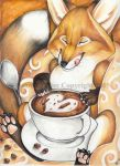 Coffee Fox by VisionCrafter