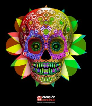 3d mexican skull by creacioncontinua
