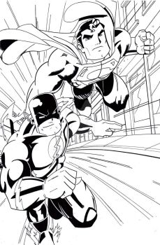 superman vs flash commission by wonderfully-twisted