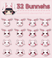 Stock Images: 32 Bunnehs by xuei0000