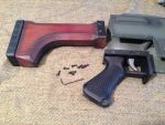 Warhammer 40K Lasgun grip and stock assembly by Matsucorp