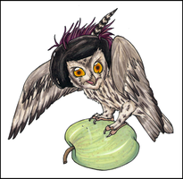 OaD : 1 Whiskered Screech Owl by ClownCarOnFire