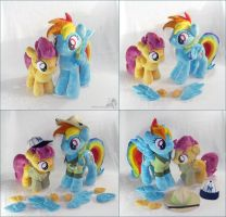 Rainbow Dash and Scootaloo by HollyIvyDesigns