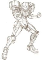 Samus in armour by Particularlyme
