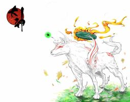 Okami Amaterasu by Materclaws